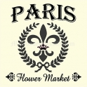 PARIS Flower Market 12x12 Stencil