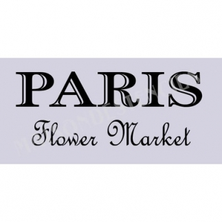Paris Flower Market 2 5.5x11.5 Stencil