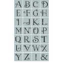 Ornate Serif Style Capital Alphabet 28 small stencils
