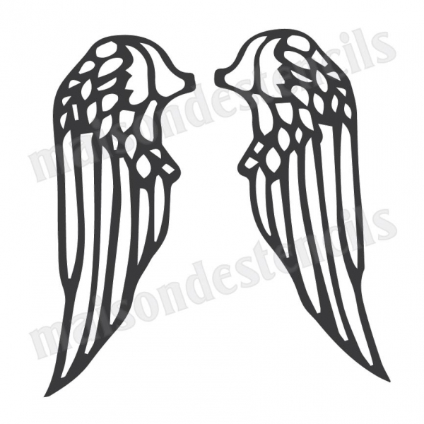 angel wings template outline - photo #41