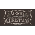 Merry Christmas vintage chalk frame with holly 5.5 x 11.5 Stencil