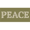 PEACE shaded font 5.5 x 11.5 Stencil