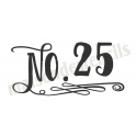 No. 25 chalk style scroll Christmas Date 5.5x11.5 Stencil
