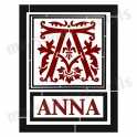 Custom Christmas Monogram Initial and Name 12x12  Stencil