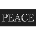 PEACE  shaded font No.2 Christmas Holiday  5.5x11.5 Stencil