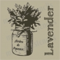Jar of Lavender  12x12 stencil