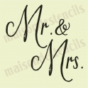 Mr. & Mrs.  wedding  12x12 stencil