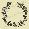 Rose Chalkboard Style Laurel Wreath 12x12 stencil