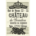 CHATEAU de Beaulieu label stencil and stripe background stencil  -  2  12x18 Stencils