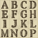 Capital Etched Alphabet 30 small stencils