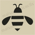 Simple Bee small 5 x 5 stencil