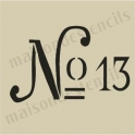 No. 13 typography small 5 x 5 stencil