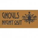 Ghoul's Night Out Chandelier 5.5x11.5 Halloween Holiday Stencil