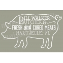 Butcher Pig Label 12x18 Stencil