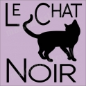 Le Chat Noir Black Cat 12x12 Halloween Stencil
