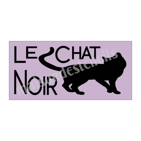 Le Chat Noir Black Cat Halloween 8x18 Stencil