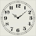 Old World Clock 12x12 Stencil