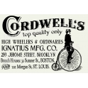 Cordwell Bicycle Penny Farthing Advertisement 12x18 Stencil