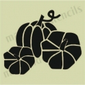 Pumpkins 3 small 5 x 5 stencil