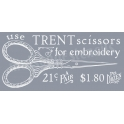 Trent Scissors Vintage Advertisement 12x18 Stencil