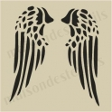 Angel wings small 5 x 5 stencil
