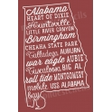 Alabama Words and Phrases 12x18 Stencil