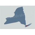 New York State Map with Heart 12x18 Stencil