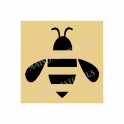 Bee Simple Graphic 8x8 Stencil