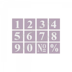 Serif Style No 1 Numbers 12 3x3 stencils