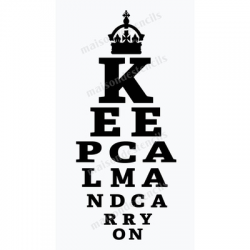 Keep Calm Eye Chart 12x18 Stencil