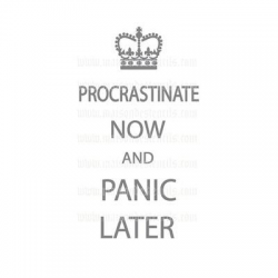 Procrastinate Now and Panic Later 5.5x11.5 Stencil