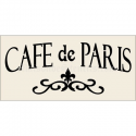 Cafe de Paris 5.5x11.5 Stencil