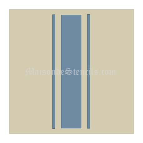 Feedsack Stripe 12x12 Stencil