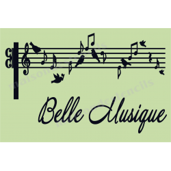 Belle Musique Beautiful Music 12x18 Stencil