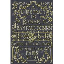 Savon Exquis French Soap Advertisement 20x30 Stencil