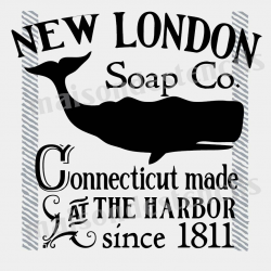 New London Soap 12x12 Stencil