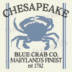 Chesapeake Blue Crab 12x12 Stencil