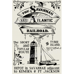 Savannah Atlantic Railroad Advertisement 20x30 Stencil