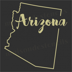 Arizona state outline 12x12 Stencil