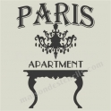 Paris Apartment Chandelier 12x12 Stencil