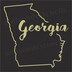 Georgia state outline 12x12 Stencil