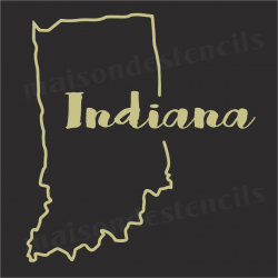 Indiana state outline 12x12 Stencil