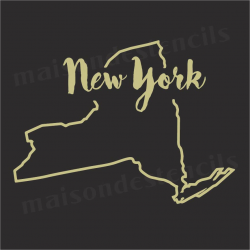 New York state outline 12x12 Stencil