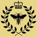Bee Crown With Laurel Wreath 12x12 Stencil