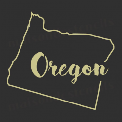 Oregon state outline 12x12 Stencil