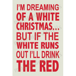 White Christmas Wine 12x18 Stencil