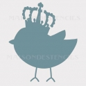 Chick With Crown Bird 12x12 Stencil