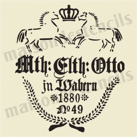 Mth Otto German Feedsack 12x12 Stencil
