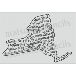 New York Words and Phrases 12x18 Stencil