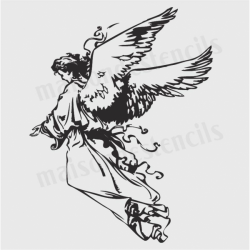 Angel Sketch 12x12 Stencil